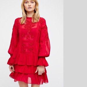 Brand new Free People Chiffon Mini Dress NWT